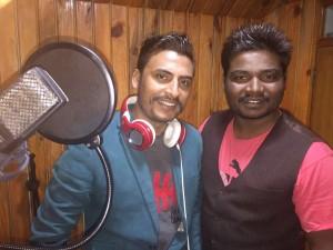 Singer Yuvraj Chaulagain with Santosh Raj_1