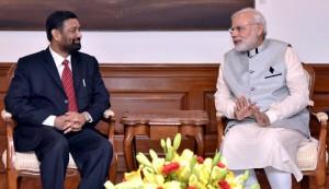 Nidhi with Modi